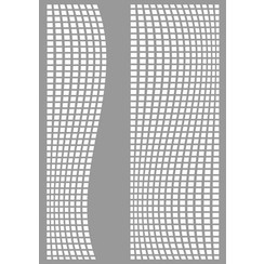 470.803.047 - Pronty Mask stencil Square waves 03.047 A4