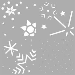 470.850.006 - Pronty Mask stencil Layer   Snowstars (4x) 50.006 15x15cm