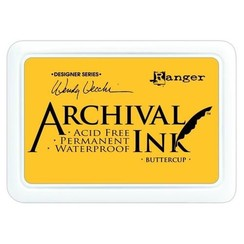 AID45632 - Ranger Archival Ink pad - buttercup 632 Wendy Vecchi