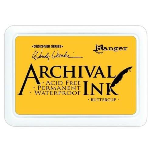 Tim Holtz AID45632 - Ranger Archival Ink pad - buttercup 632 Wendy Vecchi