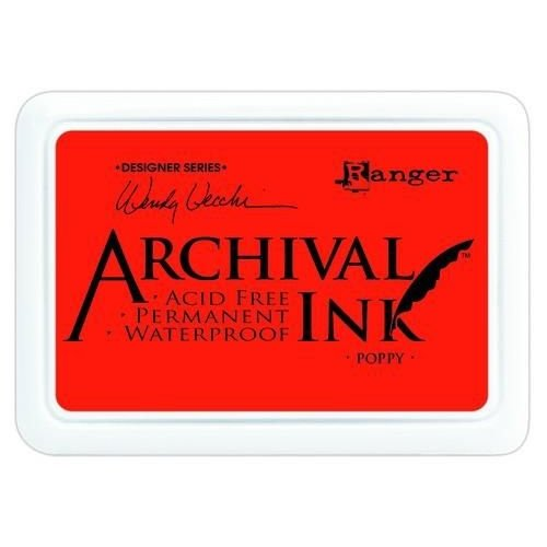 Tim Holtz AID61267 - Ranger Archival Ink pad - poppy 267
