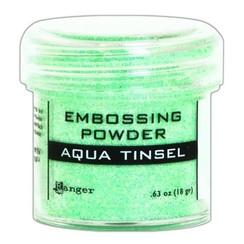 EPJ60413 - Ranger Embossing Powder 34ml -  aqua tinsel 413