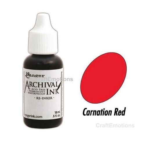 Tim Holtz ARD41450 - Ranger Archival Reinkers - carnation red 450 Wendy Vecchi
