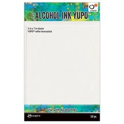 TAC63339 - Ranger Alcohol Ink Yupo Paperc White 144 Lbs 5x7 10 vel 339