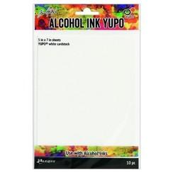 TAC49715 - Ranger Alcohol Ink Yupo Paper White 10 vel 715
