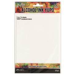 TAC49722 - Ranger Alcohol Ink Yupo Paper Translucent 10 vel 722