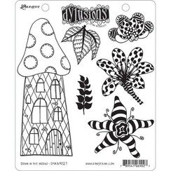 DYR69027 - Ranger Dylusions Cling Stamp Set Down in the Woods 027 Dyan Reaveley