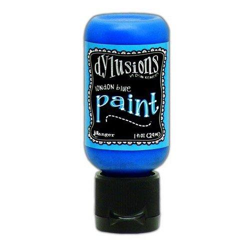 Tim Holtz DYQ70542 - Ranger Dylusions Paint Flip Cap Bottle 29ml - London Blue 542