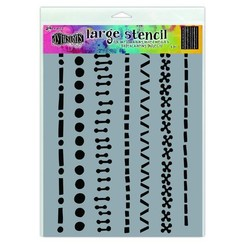 DYS71471 - Ranger Dylusions Stencils A Stitch in Time - Large 471
