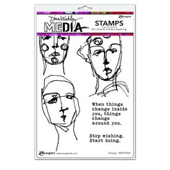"MDR74502 - Dina Wakley Media Stamps Change   502 Dina Wakley 6""x9"""