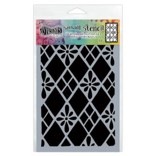Tim Holtz DYS75295 - Ranger Dylusions Stencils Diamond Are Forever - Small 295