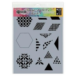 DYS75349 - Ranger Dylusions Stencils 1 1/2 Inch Quilt - Small 349