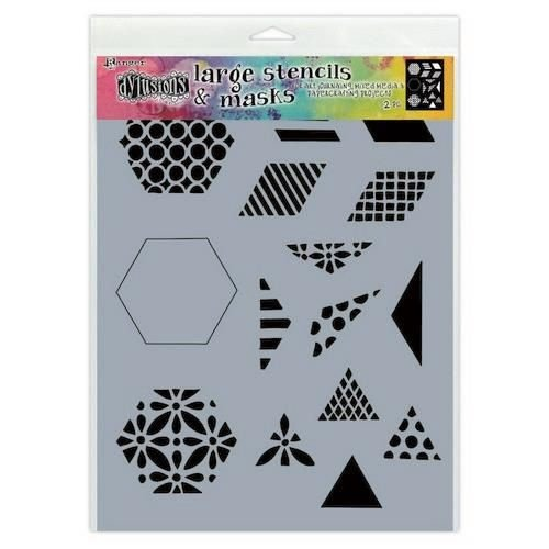 Tim Holtz DYS75349 - Ranger Dylusions Stencils 1 1/2 Inch Quilt - Small 349