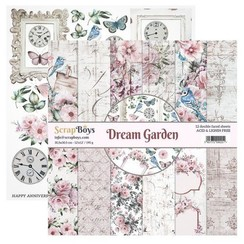 DRGA-08 - ScrapBoys Dream Garden paperset 12 vl+cut out elements-DZ 08 190gr 30,5cmx30,5cm