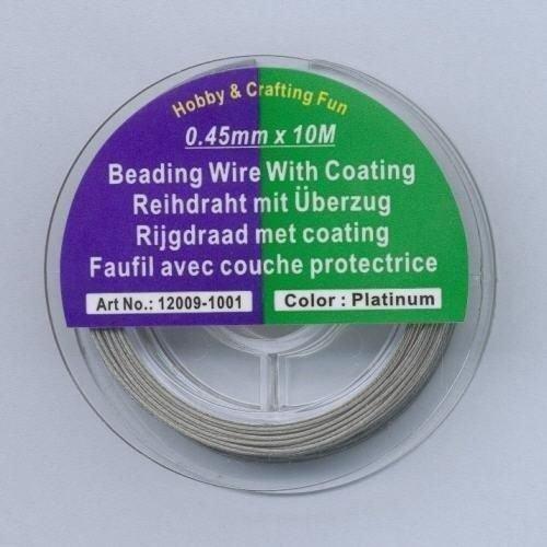 12009-1001 - Staaldraad nyl.coat zilverkleur 0,45 mm 10 MT -1001