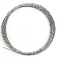 10829-4001 - Metaaldraad nylon coating zilverkleur 0,4 mm 4 MT -4001