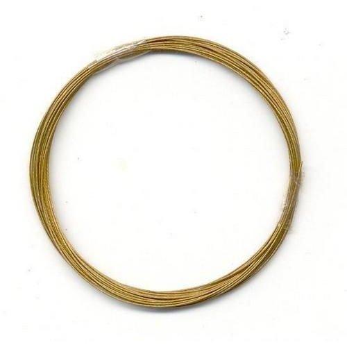 10829-4002 - Metaaldraad nylon coating goudkleur 0,4 mm 4 MT -4002