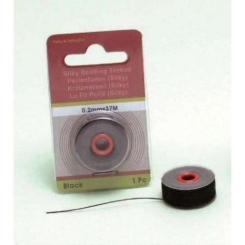 12050-5001 - Silky kralen draad zwart 0,2 mm 37 MT -5001