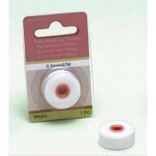 12050-5002 - Silky kralen draad wit 0,2 mm 37 MT -5002