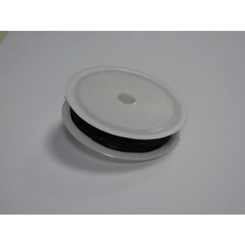 12237-3702 - Stretch koord zwart 0,8 mm 8 MT -3702