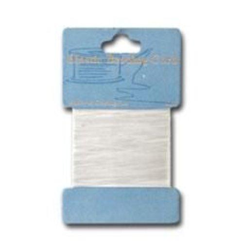 10829-7001 - Elastisch kralenkoord wit 0,7 mm 5 MT -7001
