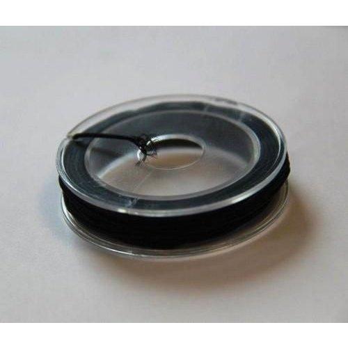 12026-2612 - Elastisch koord zwart 1 mm 5 MT -2612