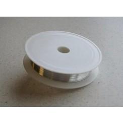 12270-7001 - Silver plated koperdraad 0,4 mm 15 MT -7001