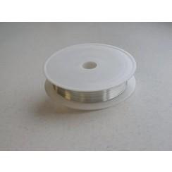 12270-7003 - Silver plated koperdraad 0,8 mm 3 MT -7003