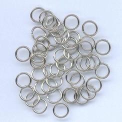 12024-0051 - Split ring gehard zilverkleur 8 mm 50 ST -0051