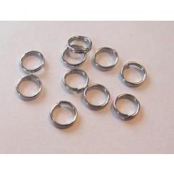 11808-1531 - Dubbel splitring zilverkleur 6 mm 10 ST -1531