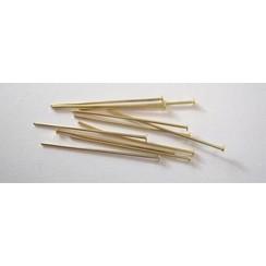 10317-3202 - Kettelstiften met kop goudkleurkleur 32 mm 100 ST -3202