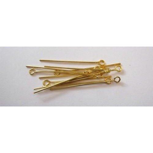 10316-3202 - Kettelstiften met oog goudkleurkleur 32 mm 100 ST -3202