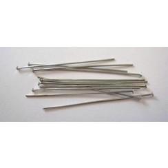 10317-4501 - Kettelstiften met kop zilverkleur 45 mm 100 ST -4501