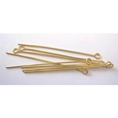 10316-4502 - Kettelstiften met oog goudkleurkleur 45 mm 100 ST -4502