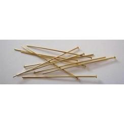 10317-4502 - Kettelstiften met kop goudkleurkleur 45 mm 100 ST -4502