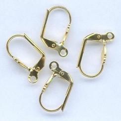 11808-4132 - Oorhaakje lelie goudkleur 4 ST -4132