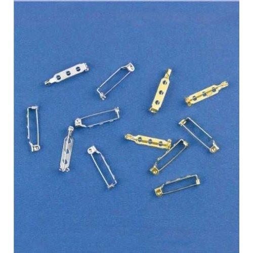 11808-1121 - Brochespelden zilverkleur 25 mm 6 ST -1121