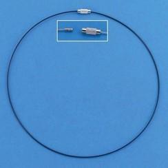 12119-1902 - Draad collier draaislot zwart 45 cm 3 ST -1902