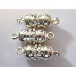 10301-0961 - Magneetsluitingen bolvorm zilver 10 mm 3 ST -0961