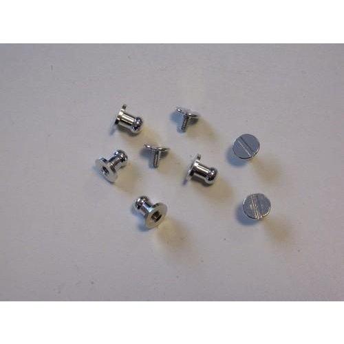 12313-1320 - Knop sluiting platinum 8x5 mm 4 ST -1320