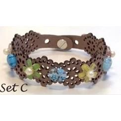 12364-6403 - Lace flower - armbandset C incl lijm -6403