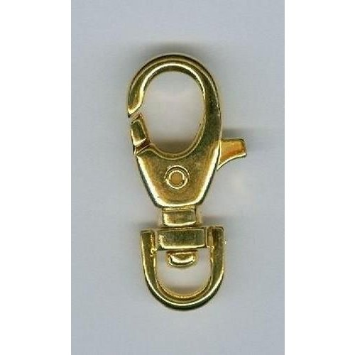 12032-4702 - Karabiner met draaibaar oog 35mm goud -4702