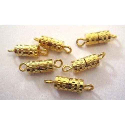 11808-1212 - Schroefsluiting goud ton 8MM 6 ST -1212
