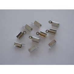 12279-7902 - Koordsluiting klem met oog 5x11mm platinum 10 ST -7902