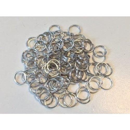 12335-3524 - Key Rings 20mm platinum 8 ST -3524