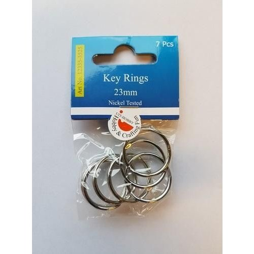 12335-3525 - Key Rings 23mm platinum 7 ST -3525