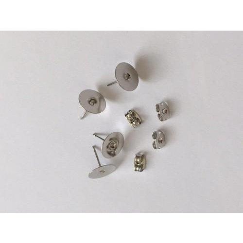 12199-9910 - Oorsteker 10mm platinum 2 paar -9910