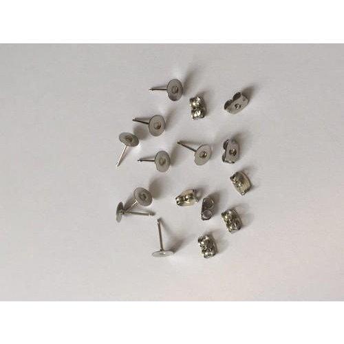 12199-9901 - Oorsteker 6mm platinum 4 paar -9901