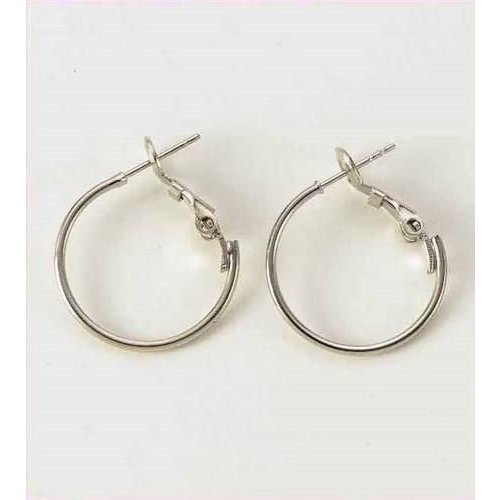 12154-5401 - Creole oorring platinum 12x20mm 2 ST -5401