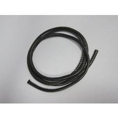 12252-5201 - Koord imitatieleer zwart 4mm 1 mtr 1 ST -5201